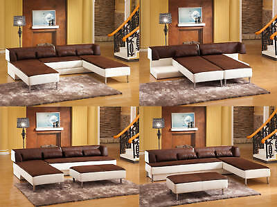Design Microfaser Ecksofa Eckcouch Sofa Garnitur 5059 2HU