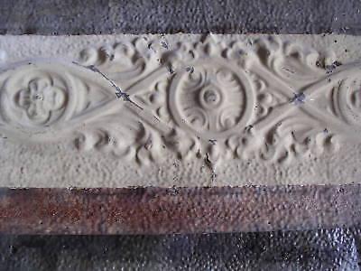 """13.5""""x17"""" Antique Ceiling Tin Tile Art Nouveau Pie Safe Door Gothic Shabby Chic 8 • CAD $26.21"""