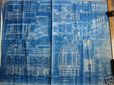 1925 PARAMOUNT PICTURES Theater Blueprint NEW YORK CITY One of a kind!!!!!!! 7