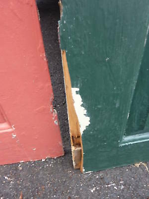 "18th century 2 panel door raised panels 22 x 77.5"""