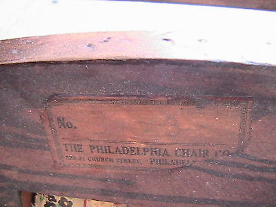 Antique Child's Rocking Chair The Philadelphia Chair Co 6