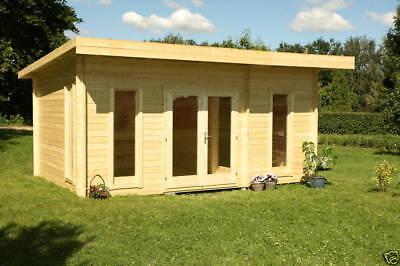 gartenhaus barbados 4 blockhaus ger tehaus holzhaus schuppen 569x359 cm 44 mm eur. Black Bedroom Furniture Sets. Home Design Ideas