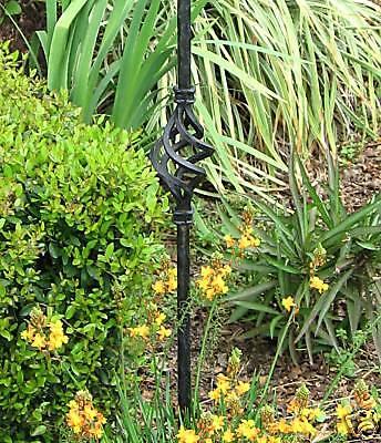 Plant Stake Fleur De Lis Iron Finial Garden Basket 3
