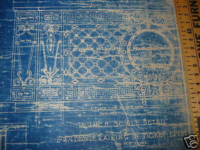 1925 PARAMOUNT PICTURES Theater Blueprint NEW YORK CITY One of a kind!!!!!!! 4
