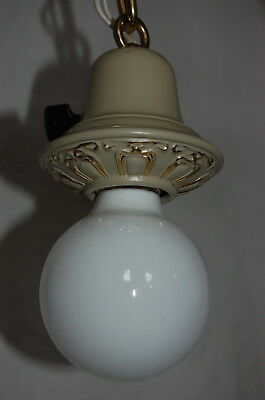 Painted Brass Pan Ceiling Light 3 Decorative Sockets 5