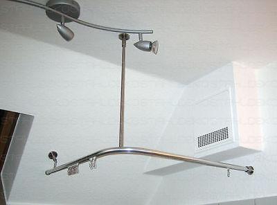 duschvorhangstange u form stange f r duschvorhang eur 130 00 picclick de. Black Bedroom Furniture Sets. Home Design Ideas