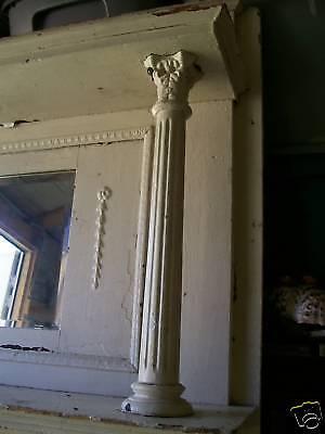 Ornate Wood Victorian Fireplace Mantle Mantel Columns Beveled Mirror 001251010
