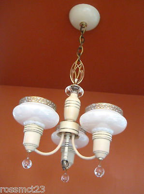 Vintage Lighting antique 1930s Art Deco set   Pair chandeliers   Pair sconces 4