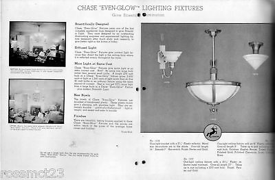 Vintage Lighting 1930s Even Glow chandelier by Chase Brass 2