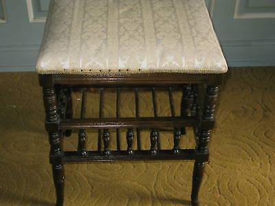 Victorian Oak Piano Stool 2