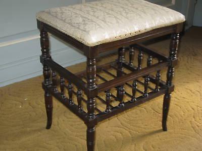 Victorian Oak Piano Stool 6