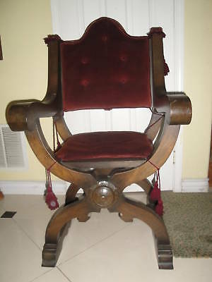 Antique Gothic Renaissance Revival Throne / Church Arm Chair 3