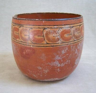 Pre-Columbian MAYAN POLYCHROME POTTERY BOWL - 600 AD 3