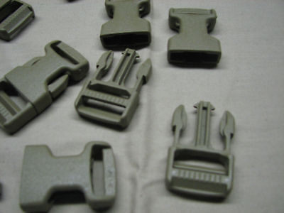 "100 military issue buckle clips snaps 1"" quick release"