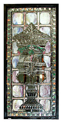 Stained Glass Window, Beveled Glass, Antique  #5507 2