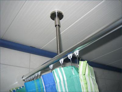 duschvorhangstange u form stange f r duschvorhang eur. Black Bedroom Furniture Sets. Home Design Ideas