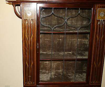 Magnificent 1900 English  Art Nouveau Inlaid Mother Of Pearl Cabinet 9