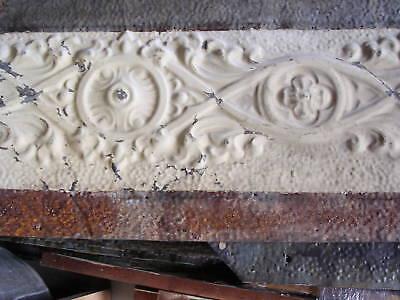 """13.5""""x17"""" Antique Ceiling Tin Tile Art Nouveau Pie Safe Door Gothic Shabby Chic 7 • CAD $26.21"""