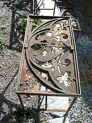 CUSTOM made iron patio table 1878 GOTHIC roof cresting 4