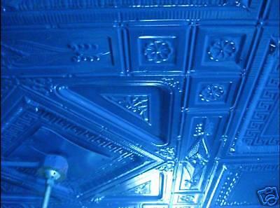 SALE Victorian Art Deco Ceiling Tin Tile Aztec Fleur De Li Chic Geometric Key 4
