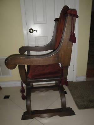 Antique Gothic Renaissance Revival Throne / Church Arm Chair
