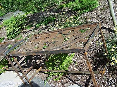 CUSTOM made iron patio table 1878 GOTHIC roof cresting 11