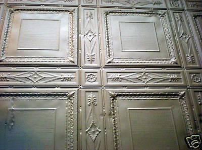 SALE Victorian Art Deco Ceiling Tin Tile Aztec Fleur De Li Chic Geometric Key 8