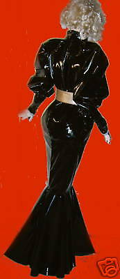 Lackkleid,Godetkleid,lang,Crossdresser,Fetisch, Diva,Maiddress,Godetdress Vinyl