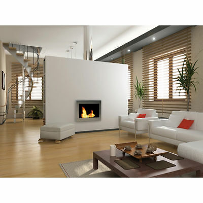 Anywhere Fireplace SoHo Silver Wall Mounted Stainless Steel Bio Fuel Smoke Free 2