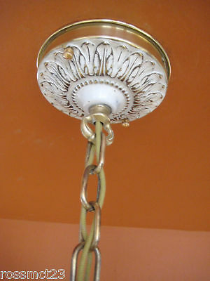 Vintage Lighting 1930s Even Glow chandelier by Chase Brass 8