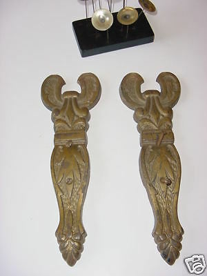 Hollywood Regency Iron Door Accents Art Nouveau Plates 6 • CAD $472.50