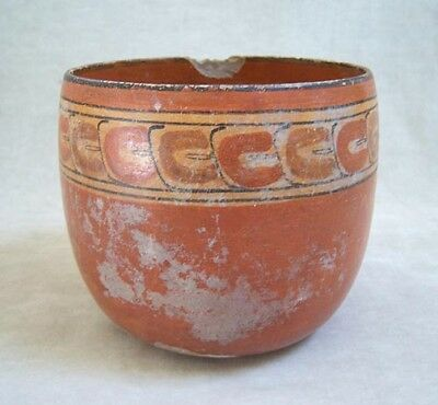 Pre-Columbian MAYAN POLYCHROME POTTERY BOWL - 600 AD 4