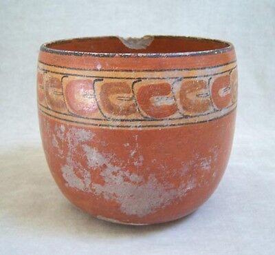 Pre-Columbian MAYAN POLYCHROME POTTERY BOWL - 600 AD 4