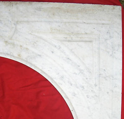 Antique CARRERRA MARBLE  Mantel 6