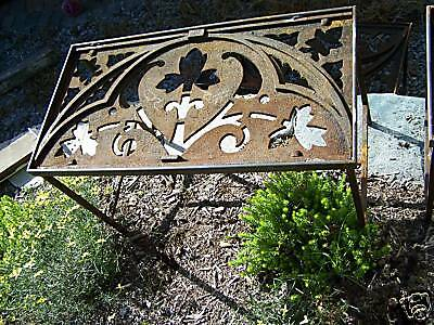 CUSTOM made iron patio table 1878 GOTHIC roof cresting 7