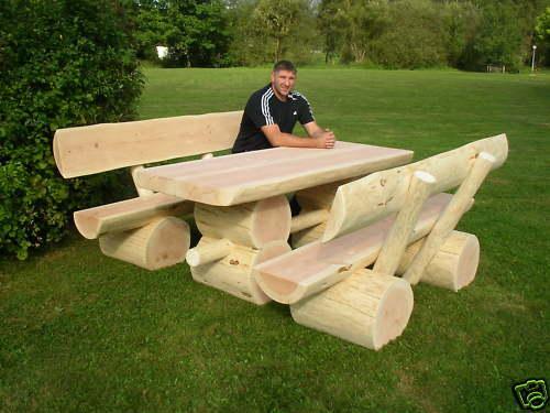gartenbank massivholz rustikal 000024 eine. Black Bedroom Furniture Sets. Home Design Ideas