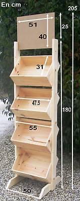 presentoir a vin de 48 bouteilles en bois eur 95 00 picclick fr. Black Bedroom Furniture Sets. Home Design Ideas