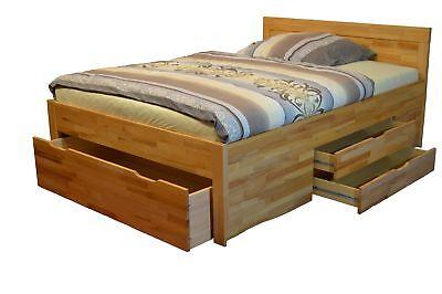 Bett Buche 120x200 Schubladenbett Funktionsbett Eur 379 00