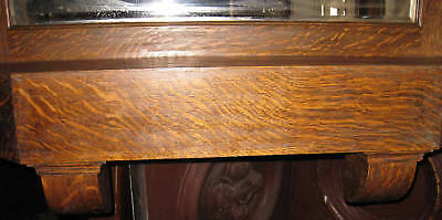 Tiger Oak Full Mantel Beveled Mirror Mission Era Architectural Salvage 3