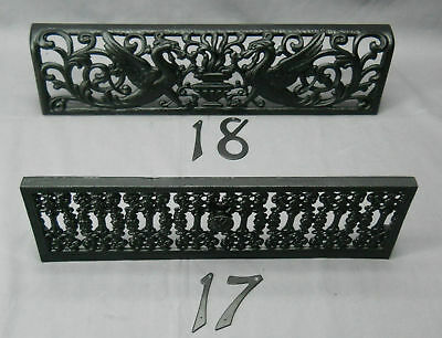 Vintage Pair  Black Cast Iron Fire Dogs for Fireplace (#4) 12