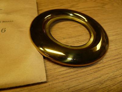 """#7116 VINTAGE DOOR ESCUTCHEON 3-13/16"""" ROUND fin: BRASS"""