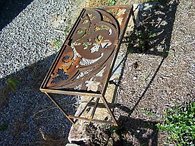 CUSTOM made iron patio table 1878 GOTHIC roof cresting 6