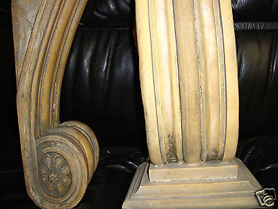 Fireplace Mantel bracket pedestal sconce sculpture 4