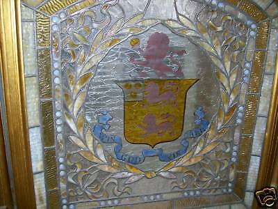Antique Leaded Stained Glass Firescreen 5