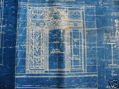 1925 PARAMOUNT PICTURES Theater Blueprint NEW YORK CITY One of a kind!!!!!!! 6