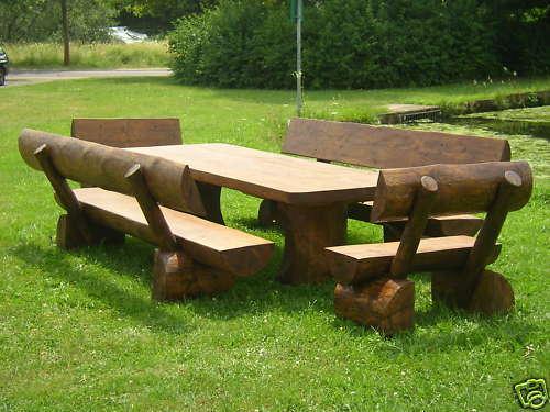 massivholz gartenbank rustikal 020210 eine. Black Bedroom Furniture Sets. Home Design Ideas