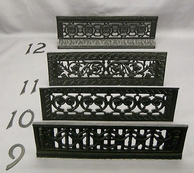 Vintage Pair  Black Cast Iron Fire Dogs for Fireplace (#4) 10