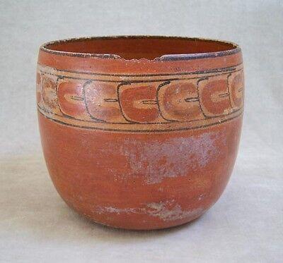 Pre-Columbian MAYAN POLYCHROME POTTERY BOWL - 600 AD 2