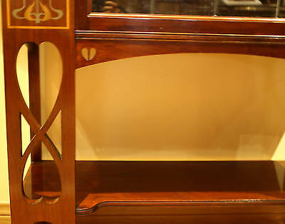 Magnificent 1900 English  Art Nouveau Inlaid Mother Of Pearl Cabinet 4