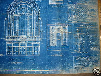 1925 PARAMOUNT PICTURES Theater Blueprint NEW YORK CITY One of a kind!!!!!!! 3